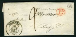 LETTRE  De  BRIENNE  DU  13  JUIN  1844  POUR  PINEY   . - 1801-1848: Précurseurs XIX