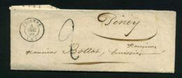 LETTRE  DE  BRIENNE  DU  8  DECEMBRE  1849  POUR  PINEY   . - 1801-1848: Précurseurs XIX