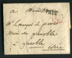 LETTRE  POUR  GRENOBLE  DU  XX XX 1813 ??   . - Poststempel (Briefe)