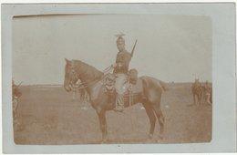 ARMEE BELGE  - PHOTO CARTE -  LANCIER A CHEVAL - Regimenten