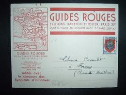 CP GUIDES ROUGES EDITIONS BANETON THIOLIER PARIS XIe Saison 1954 TP PREO ANJOU 4F - 1921-1960: Periodo Moderno