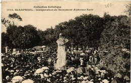 CPA St-RAPHAEL Inauguration Du Monument Alphonse Karr (394378) - Saint-Raphaël