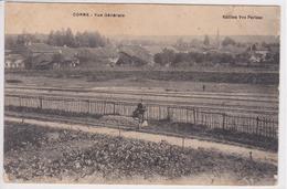 70 CORRE Vue Générale , Vue Sur La Ligne De Chemin De Fer Avec Personnage , Circulée En 1909 - Autres Communes