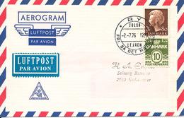 Denmark Air Mail Cover Scout Scouting Ry Julsö  2-7-1976 Fri Sa Det Maerkes - Scouting