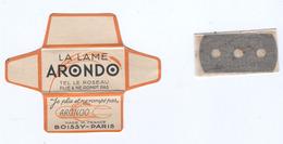 Lame De Rasoir Française ARONDO- French Safety Razor Blade Wrapper - Razor Blades