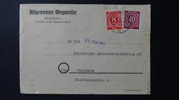 Germany - Allied Occupation - 1948 - Mi:DE-TZ 917,929 Yt:DE-TZ 7,19 On Envelope - Look Scan - American,British And Russian Zone