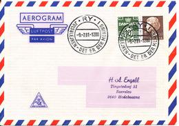 Denmark Air Mail Cover Scout Scouting Ry Julsölejren 9-7-1981 Det Er Der Mening I - Scouting