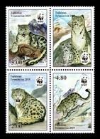 Tajikistan 2019 Mih. 833/36 Fauna. WWF. Snow Leopard MNH ** - Tadjikistan