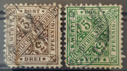 WÜRTTEMBERG 1890 - Canceled - Mi 208, 209 - 3pf 5pf - Wuerttemberg