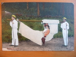 CPA - Madeira - Rede - Transport En /hammock /hamac Avec Porteur- 1914 - Madeira