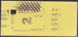 Métro Ticket, France - Metro Paris - Subway