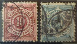WÜRTTEMBERG 1875 - Canceled - Mi 46, 47 - 10pf 20pf - Wuerttemberg