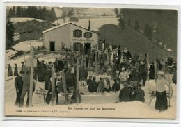 SUIISSE LES AVANTS Sur MONTREUX Carte RARE Un Lunch Au Col De SONLOUP Le CAFE Skieurs No 5608 Charnaux     D11 2019 - VD Vaud