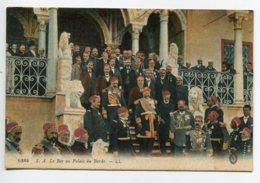 TUNISIE TUNIS S.A Le Bey Au Palais Du Bardo Entouré Des Autorités Du Pays   LL 6384 - écrite  Voir Dos  D11  2019 - Tunisia