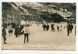 65 CAUTERETS Sports D ' Hiver Les Skieurs  Edit C . C 49 -  écrite Timbrée    D11 2019 - Cauterets