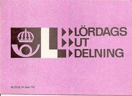 SWEDEN, 1979, LD, Booklet With Lörsdaglabels (saturday Delivery) - 1951-80