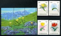 Uzbekistan 2010 / Flowers MNH Flores Blumen Fleurs / C8525   37-29 - Vegetales