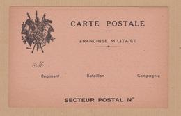 CARTE POSTALE FM VIERGE VOIR PHOTO - Poststempel (Briefe)
