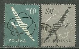 POLAND Oblitéré 935-936 Championnats Internationaux De Vol à Voile Planeur - 1944-.... Republik