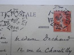 Marcophilie - Lettre Enveloppe Obliteration - Convoyeur Mouthe à Pontarlier - 1915 (2476) - Marcophilie (Lettres)