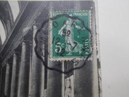 Marcophilie - Lettre Enveloppe Obliteration - Convoyeur St Malo à Rennes - 1912 (2478) - Marcophilie (Lettres)