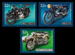 Russia 2019 Mih. 2748/50 Motorcycles MNH ** - 1992-.... Fédération