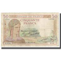 France, 50 Francs, 1937, 1937-02-25, TB, Fayette:18.18, KM:85a - 1871-1952 Gedurende De XXste In Omloop