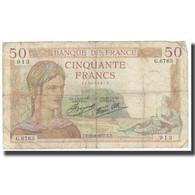 France, 50 Francs, 1937, 1937-08-26, TB, Fayette:18, KM:85a - 1871-1952 Gedurende De XXste In Omloop