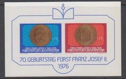 Liechtenstein 1976 Fürst Franz Josef  M/s ** Mnh (44437) - Blokken