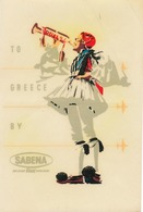 Étiquettes à Bagages - Sabena - To Greece. By Sabena - Baggage Labels & Tags