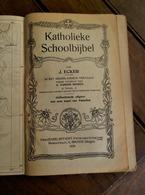 Katholieke  Schoolbijbel  Door  J. Ecker    Geillustreerde Uitgave  1935 - Livres, BD, Revues