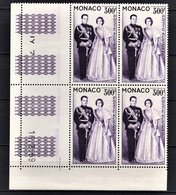 MONACO 1957 / 1959 BLOC DE 4 PA N° 71 - NEUFS** / COIN DE FEUILLE / DATE - Luftfahrt