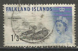 Falkland Is. - 1960  Yellow Billed Teal 1/3d  Used  SG 203  Sc 138 - Falkland Islands