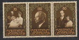 Liechtenstein 1981 75th Ann. Prince Franz Joseph II 3v From M/s (44437A) - Liechtenstein
