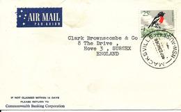Australia Cover Sent Air Mail To England Macksville 23-11-1966 Single Franked - 1990-99 Elizabeth II