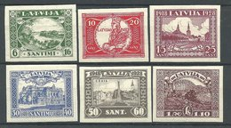 (990086) Lettland  1928 Freiheitsdenkmal, Ungezähnt Leichter Erstfalz - Latvia
