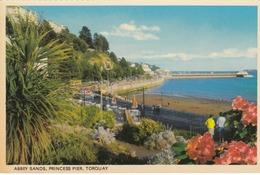 Postcard Abbey Sands Princess Pier Torquay Devon My Ref  B13613 - Torquay