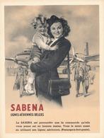 Étiquettes à Bagages - Sabena - Lignes Aériennes Belges - Baggage Labels & Tags