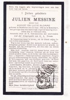 DP Julien Messine / Blomme 17j. ° Rumbeke 1894 † Ongeval Roeselare 1912 / Missine Messeyne - Images Religieuses