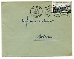 France N° 1255 Y. Et T. Loiret Gien Flamme Muette Du 24/05/1960 - Marcophilie (Lettres)