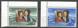 Falkland Is. - 1972  Silver Wedding MNH **  SG 289-90  Sc 223-4 - Falkland Islands