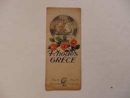 Dépliant Sur Rhodes En Grèce. - Dépliants Turistici