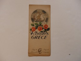 Dépliant Sur Rhodes En Grèce. - Folletos Turísticos