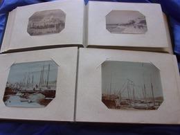 RARE ET INTERESSANT LOT DE 2 ALBUM PHOTOS DE FAMILLE VERS 1880 SUR MARSEILLE ET REGION - Fotos