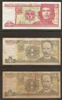 LOT De 3 BILLETS De BANCO CENTRAL De CUBA - Monnaies & Billets