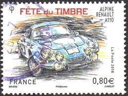 Oblitération Cachet à Date Sur Timbre De France N° 5204 - Fête Du Timbre 2018, Renault Alpine - France
