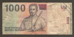 BILLET De BANQUE INDONESIE 1000 ROUPIES - BANK INDONESIA 1000 SERIBU RUPIAH - Indonesien