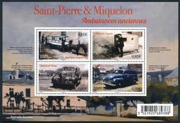ST-PIERRE ET MIQUELON 2016 - Yv. F1166 (1166 à 1169) **  - Feuillet Ambulances Anciennes (4 Val.)  ..Réf.SPM11718 - St.Pierre Et Miquelon