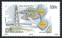 ST-PIERRE ET MIQUELON 2016 - Yv. 1171 **  - Architecture. Phare De La Pointe Plate  ..Réf.SPM11720 - St.Pierre & Miquelon