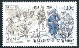 ST-PIERRE ET MIQUELON 2016 - Yv. 1172 **  - Bataille De La Somme (1916)  ..Réf.SPM11721 - St.Pierre & Miquelon